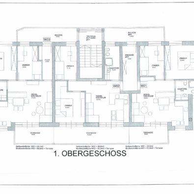 Obergeschoss 3-Zimmerwoh