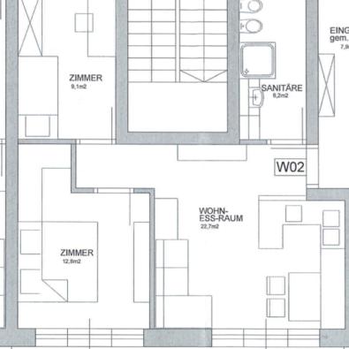 Plan 1. Obergeschoss WO2