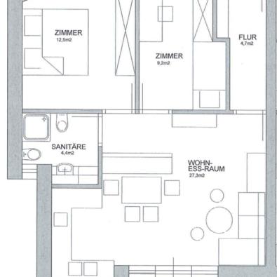 Plan 1. Obergeschoss WO3
