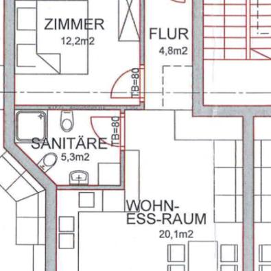Plan 2. Obergeschoss 1